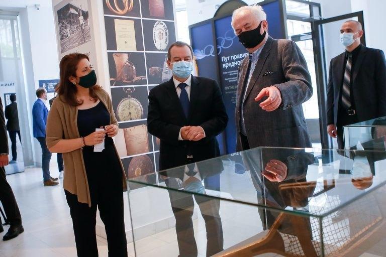 Dačić sa Maljkovićem obišao izložbu Put pravih vrednosti
