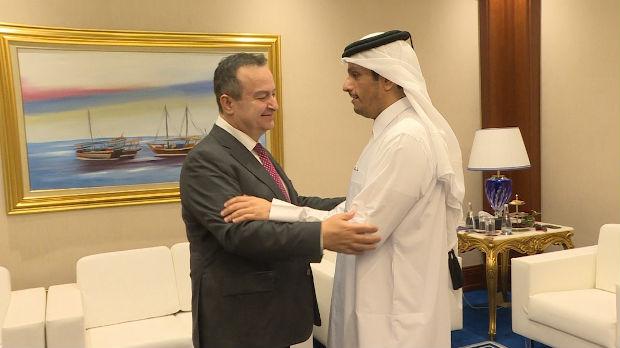 Dačić sa premijerom i ministrom spoljnih poslova Katara
