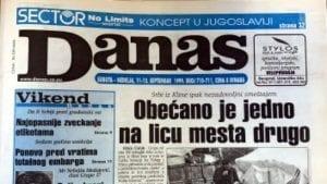 Danas (1999): Prvi par jugoslovenske opozicije