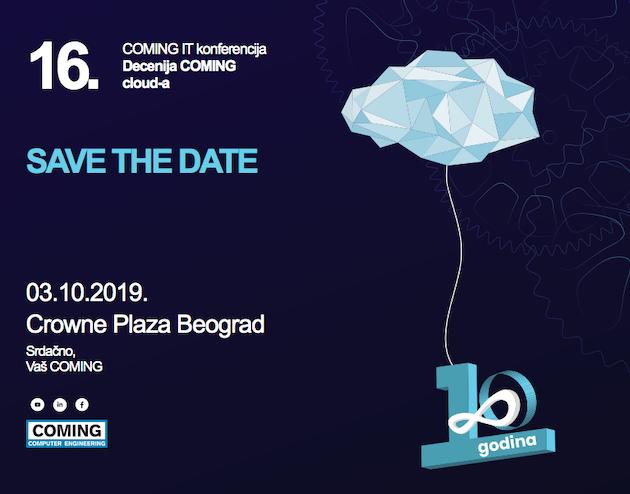 Decenija COMING cloud-a – 16. COMING IT konferencija