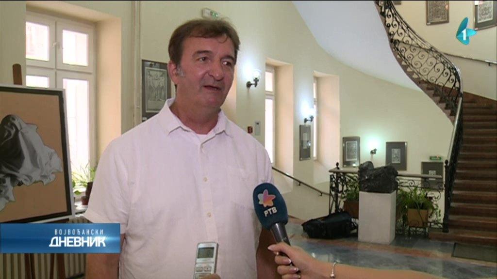 Dekan Akademije umetnosti u Novom Sadu, Siniša Bokan, dobitnik zahvalnice SANU-a.