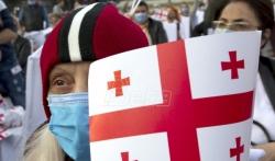 Demonstracije opozicije u Gruziji pre izbora