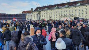 Demonstracije protiv restriktivnih mera u Beču