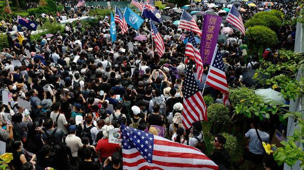 Demonstranti pozivaju Trampa da oslobodi Hongkong