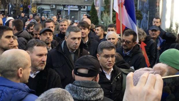 Pristalice Saveza za Srbiju osam sati blokirale ulaze u RTS