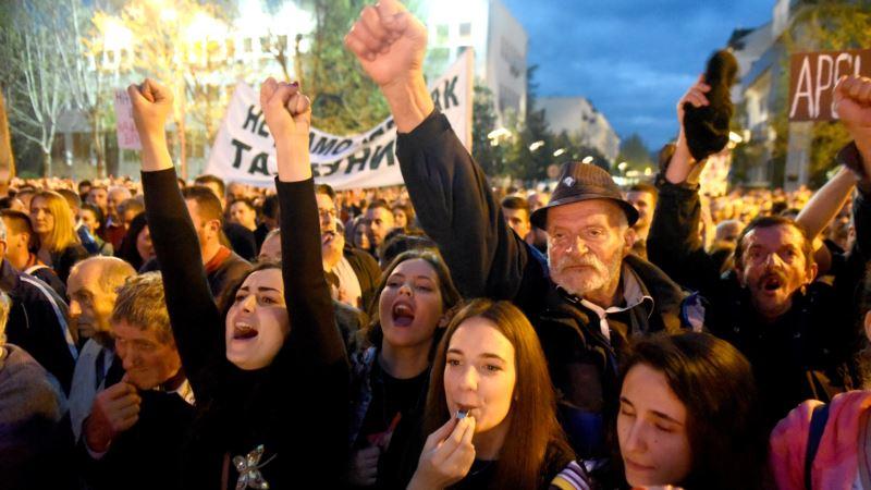 Deseti protest u Podgorici: Pravda je zarobljena