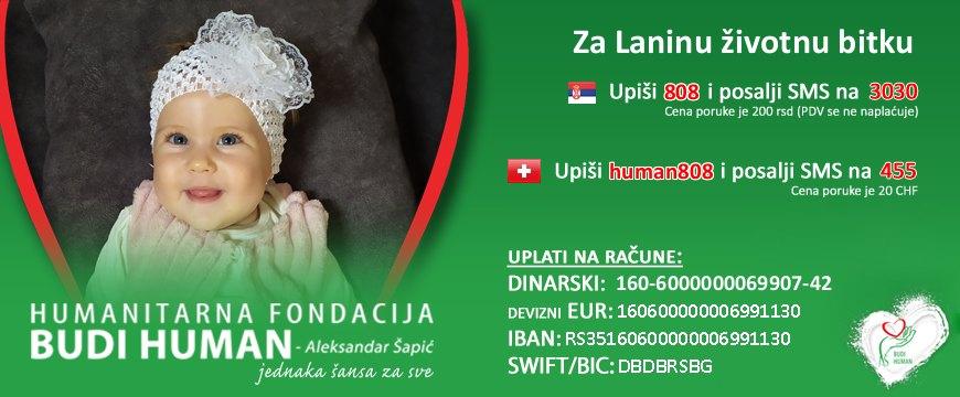 Maloj Lani Jovanović iz Rakovca kod Beočina potreban novac za lek