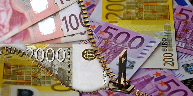 Dinar bez promene, kurs 117,79