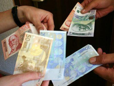 Dinar danas jači, kurs 117,7193