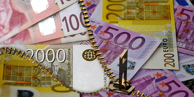 Dinar jača, kurs 119,40