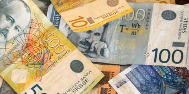 Dinar približno kao i juče, srednji kurs 117,76