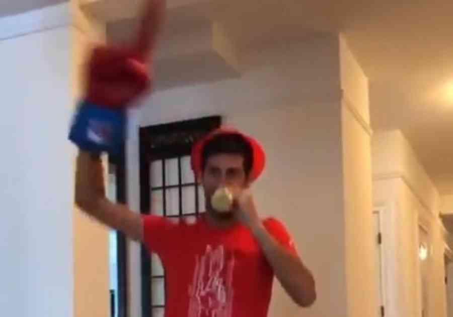 ĐOKOVIĆ U TRANSU ZBOG USPEHA ZVEZDE: Evo kako je Novak proslavio ulazak voljenog kluba u Ligu šampiona (VIDEO)