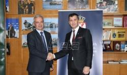 Djordjević sa crnogorskim kolegom o socijaloj dimenziji evropskih integracija