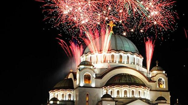 Dočekana i srpska Nova godina, ispred Hrama Svetog Save služen moleban