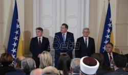 Dodik, Komšić i Džaferović preneli ambasadorima EU opredeljenost za sprovodjenje reformi