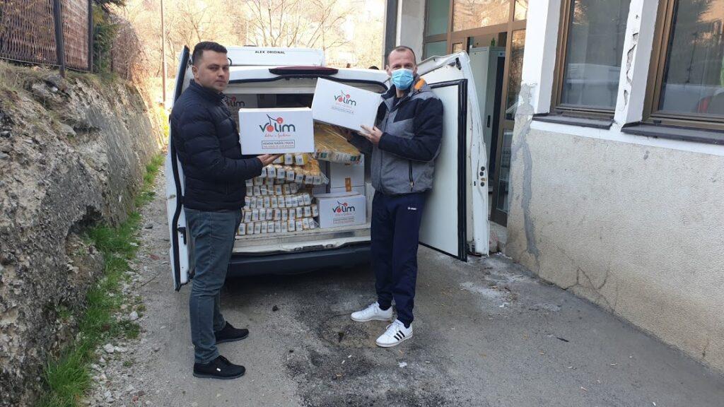 Donacija proizvoda zdrave hrane firme Es komerc stigla u pribojsku kovid bolnicu