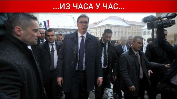 Drugi dan Vučićeve posete Hrvatskoj, razgovori sa Srbima