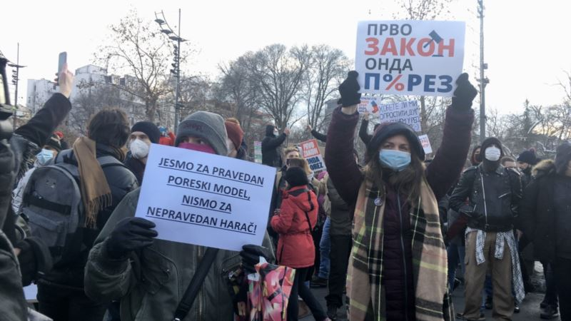 Protest frilensera u Beogradu: Sastanak sa Vladom o porezu 18. januara