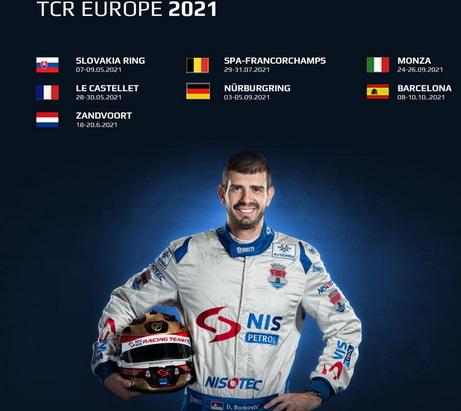 """Dušan Duca Borković opet u seriji TCR Evropa – U """"audiju RS3 LMS"""""""
