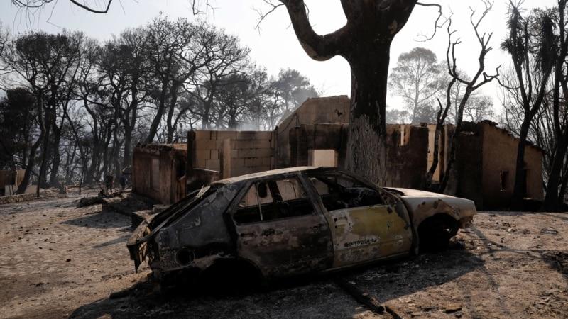 Dva ogromna požara u Grčkoj, temperature do 43 stepena