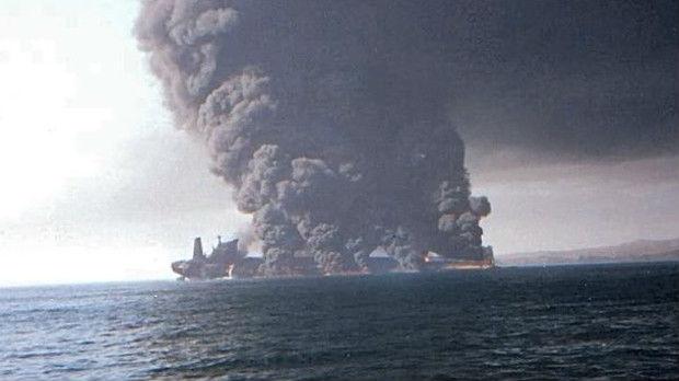 Dva tankera u plamenu u Omanskom zalivu