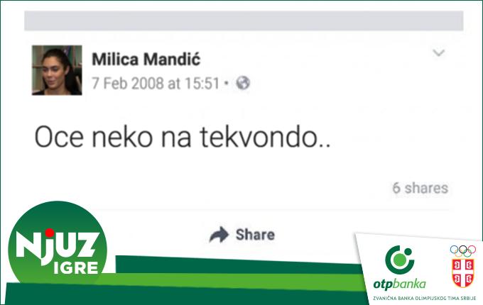 EKSKLUZIVNO: Fejsbuk status Milice Mandić iz 2008.