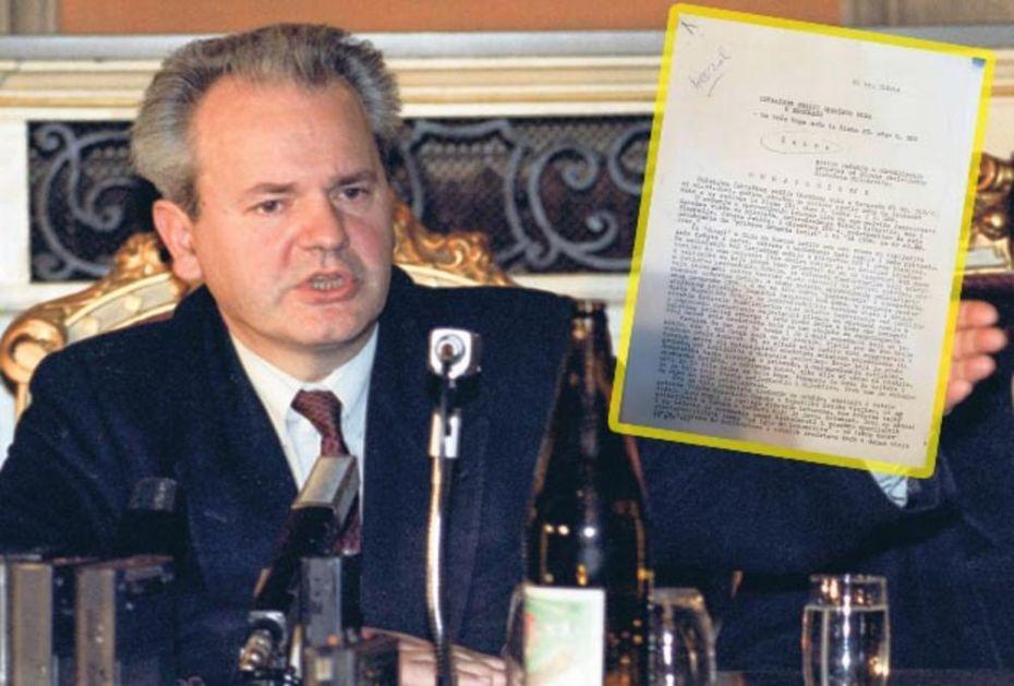EKSKLUZIVNO! KURIR DOŠAO U POSED ISTORIJSKOG DOKUMENTA! Milošević: Ako sam KRAO, bilo je to za Srbiju ČITAJTE U KURIRU
