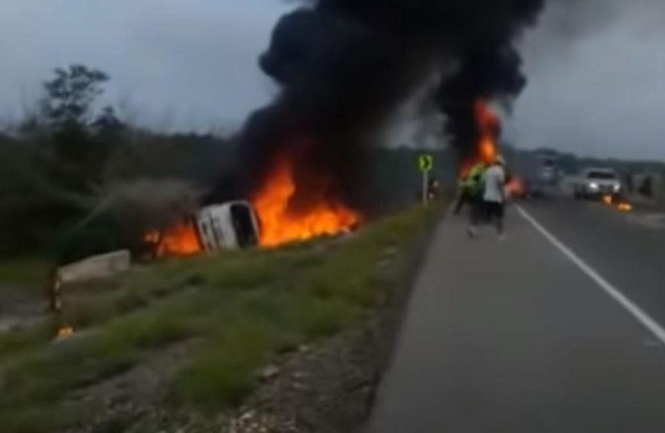 EKSPLOZIJA CISTERNE SA GORIVOM U KOLUMBIJI: Okupili se oko prevrnutog kamiona, a onda se desio horor! Poginulo sedmoro
