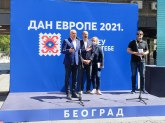EU karavan postavljen u centru Beograda