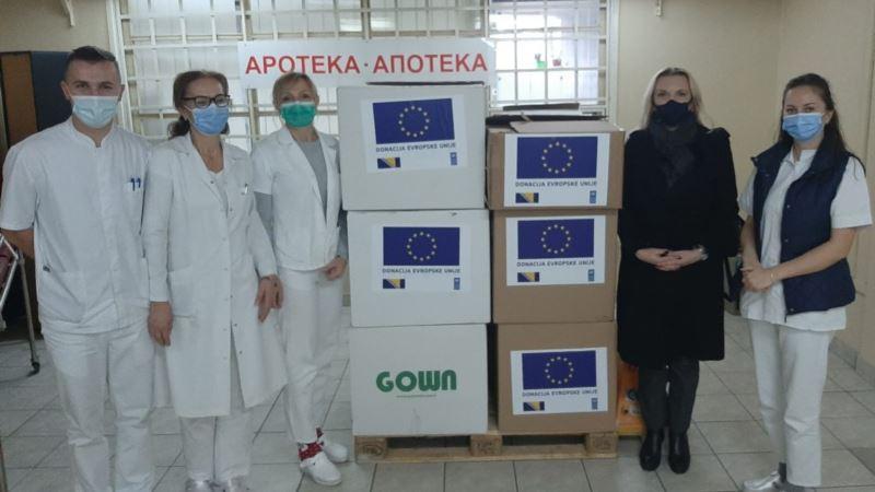 EU uručila zaštitnu opremu zdravstvenim institucijama u BiH