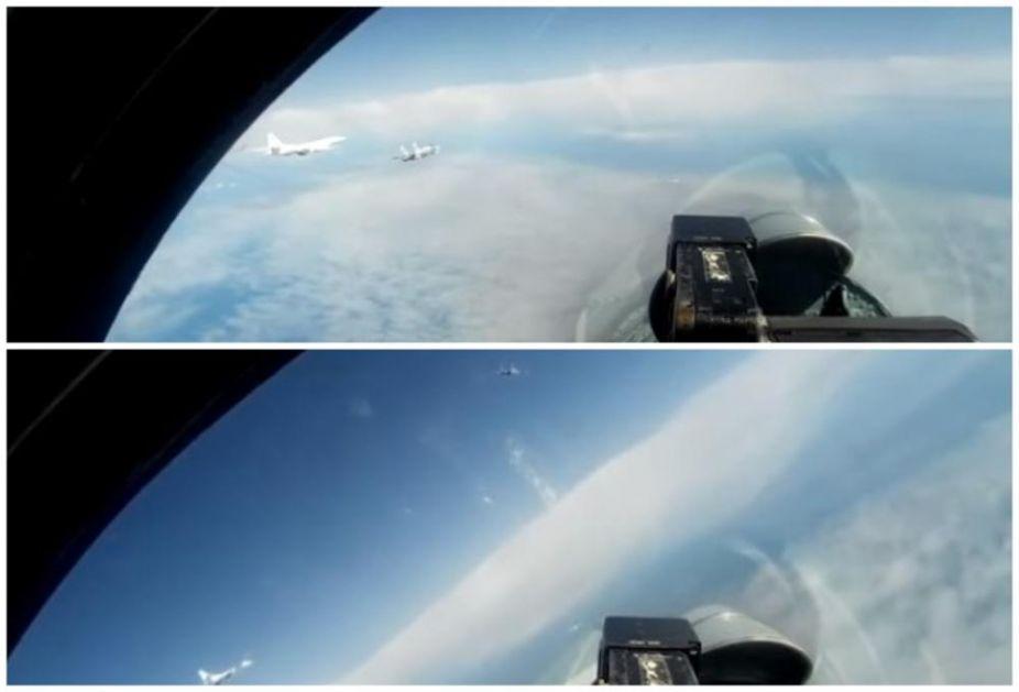EVO KAKO SU RUSKI BOMBARDERI RASTERALI ULJEZE: Pogledajte kako su se razbežali NATO avioni posle bliskog susreta iznad Baltičkog mora! (VIDEO)