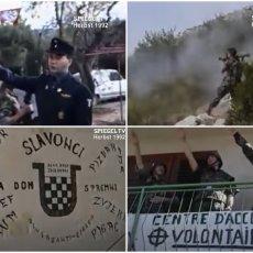 EVROPSKI NACISTI U BORBI PROTIV SRBA U HRVATSKOJ: Snimak koji sigurno do sada niste videli, svi obučeni kao Hitlerov SS (VIDEO)