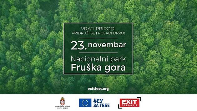 EXIT sadi 13.000 stabala na Fruškoj gori