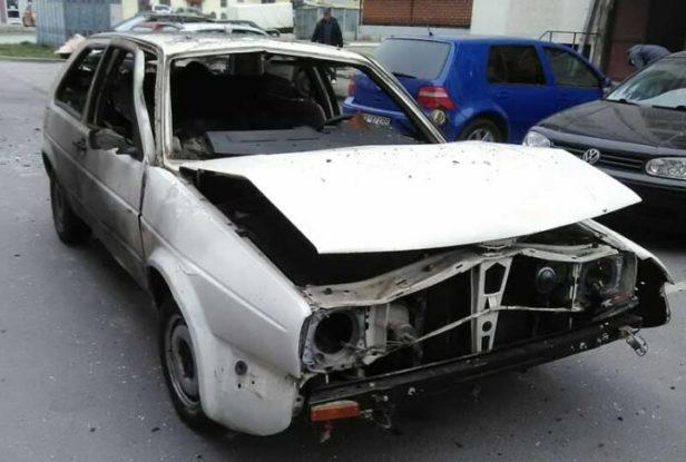 Eksplozija u Beranama: Uništeno vozilo policijskog inspektora