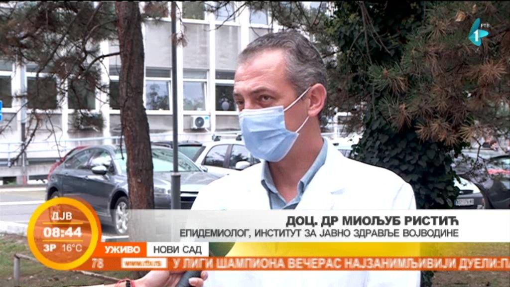 Epidemiolog Ristić: Nema ni jedne opštine u Vojvodini koja nema karakteristike vanredne situacije