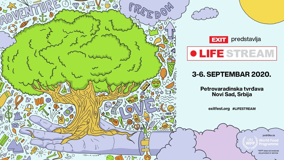 EXIT Festival sa Svetskim programom za hranu Ujedinjenih nacija, sa Petrovaradinske tvrđave lansira projekat Life Stream!