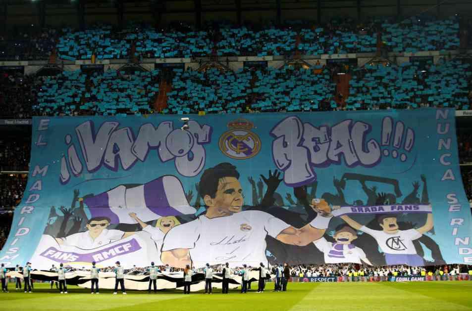 (FOTO) SPEKTAKULARNO: Pogledajte sjajnu koreografiju navijača Real Madrida pred početak utakmice sa PSŽ-om