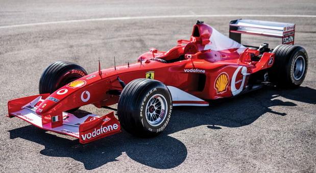 Ferrari F2002 Michaela Schumachera prodat za 6.643.750 dolara