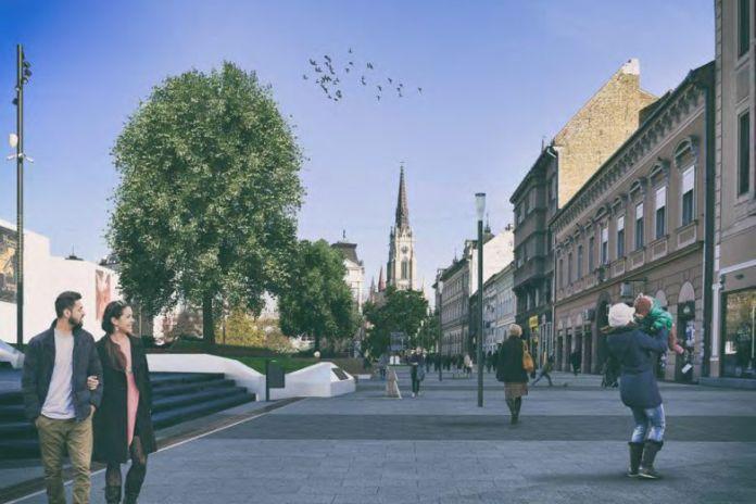 Fontana, klupe, memorijalna traka: Ovako će izgledati Pozorišni trg u Novom Sadu (FOTO)