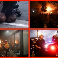 GORI AMERIKA! Snimci o kojima BRUJI SVET: Grad u plamenu, policija HAPSI novinare u programu UŽIVO (VIDEO)