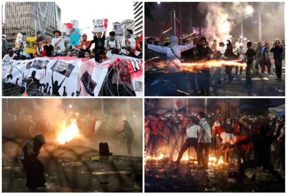GORI INDONEZIJA, U DŽAKARTI SUZAVAC, MOLOTOVLJEVI KOKTELI I KAMENJE: 6 mrtvih i 200 povređenih na protestima zbog reizbora predsednika (FOTO, VIDEO)