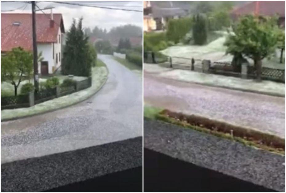 GRAD POHARAO HRVATSKU: Ulice se zabelele u snažnoj oluji, uništeni usevi (VIDEO)