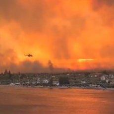 GRCI SE BORE SA VATRENOM STIHIJOM: Atina u vatrenom obruču, na Eviji i Kosu evakuacija stanovništva (VIDEO)