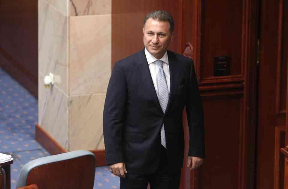 GRUEVSKI OSTAJE BEZ POSLANIČKOG IMUNITETA: Sledi glasanje u Sobranju