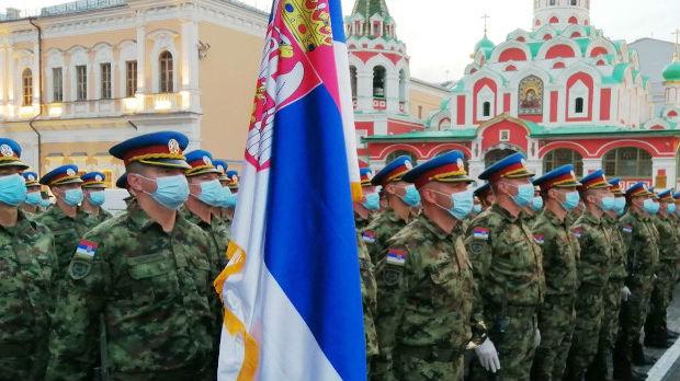 Gardisti Vojske Srbije u jeku priprema za Paradu pobede u Moskvi