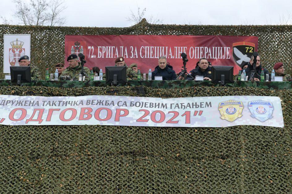Generalna proba vojske i policije pred vežbu Odgovor 2021