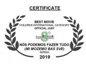 Glavna NAGRADA za ŠAF u Brazilu i film MI MOŽEMO BAŠ SVE