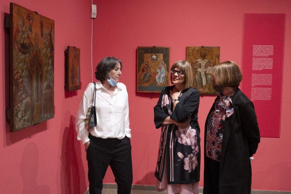 Gojković otvorila izložbu ikona grčkih majstora u Narodnom muzeju