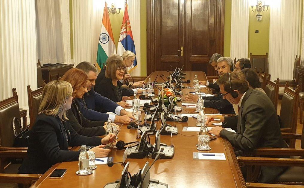 Gojković sa ministrom spoljnih poslova Indijе