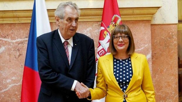 Gojkovićeva i Zeman: Brojni potencijali za saradnju Srbije i Češke